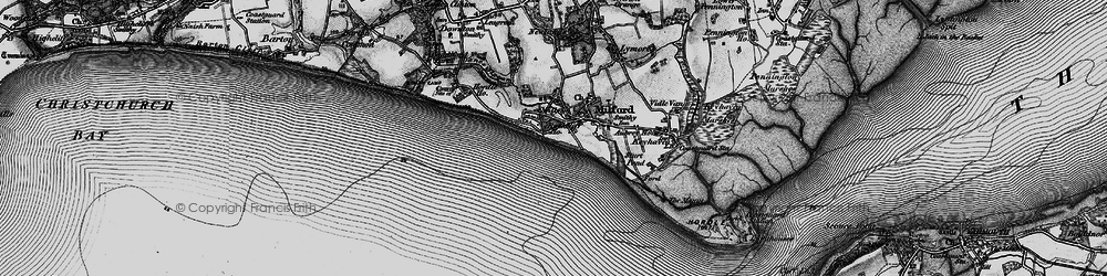 Old map of Milford on Sea in 1895