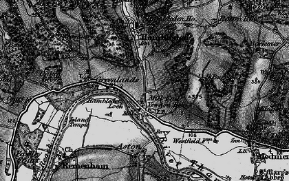 Old map of Mill End in 1895
