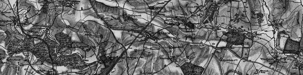 Old map of Winterwell Barn in 1896