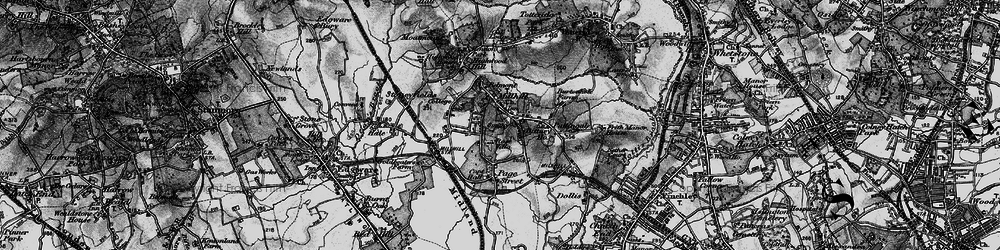 Old map of Mill Hill in 1896