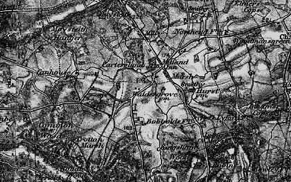 Old map of Milland in 1895