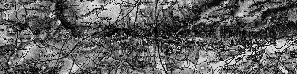 Old map of Ampthill Park Ho in 1896