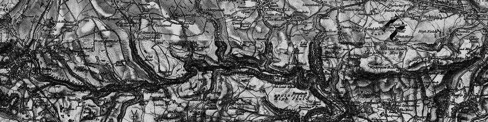 Old map of Miller's Dale in 1896