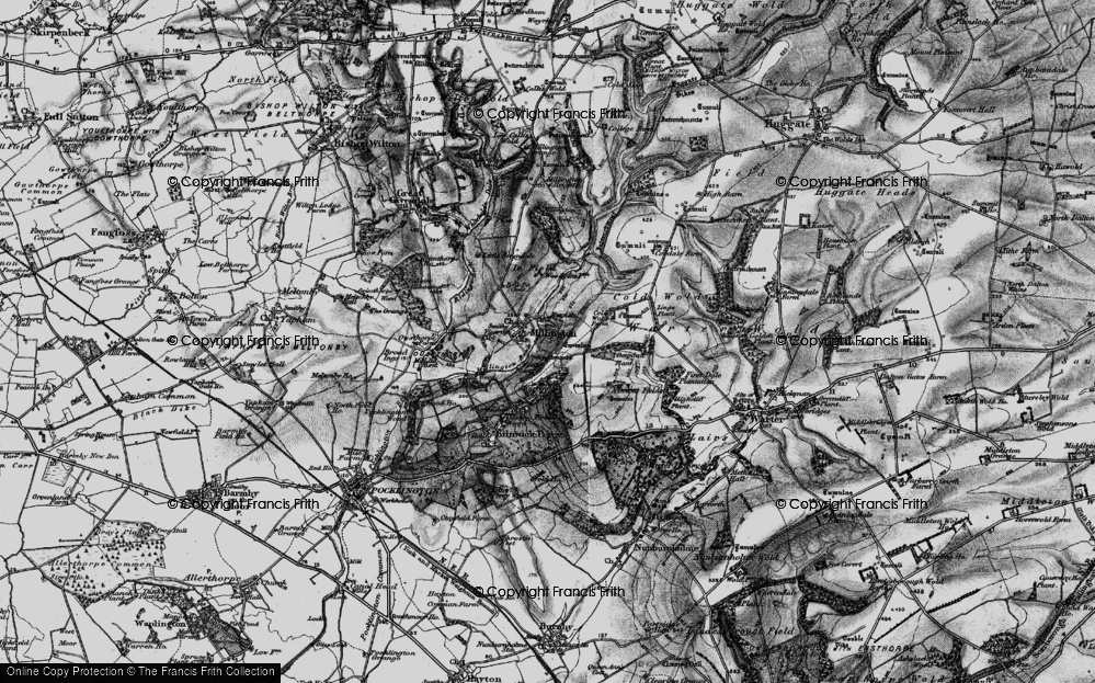 Old Map of Historic Map covering Lings Plantn in 1898