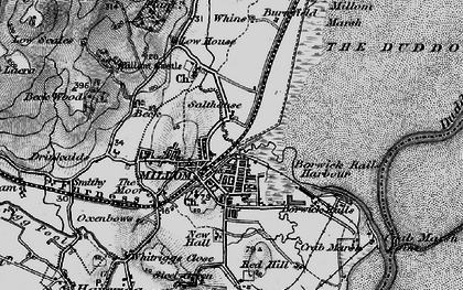 Old map of Millom in 1897