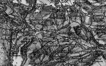 Old map of Millthorpe in 1896