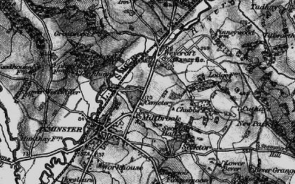 Old map of Millwey Rise in 1898
