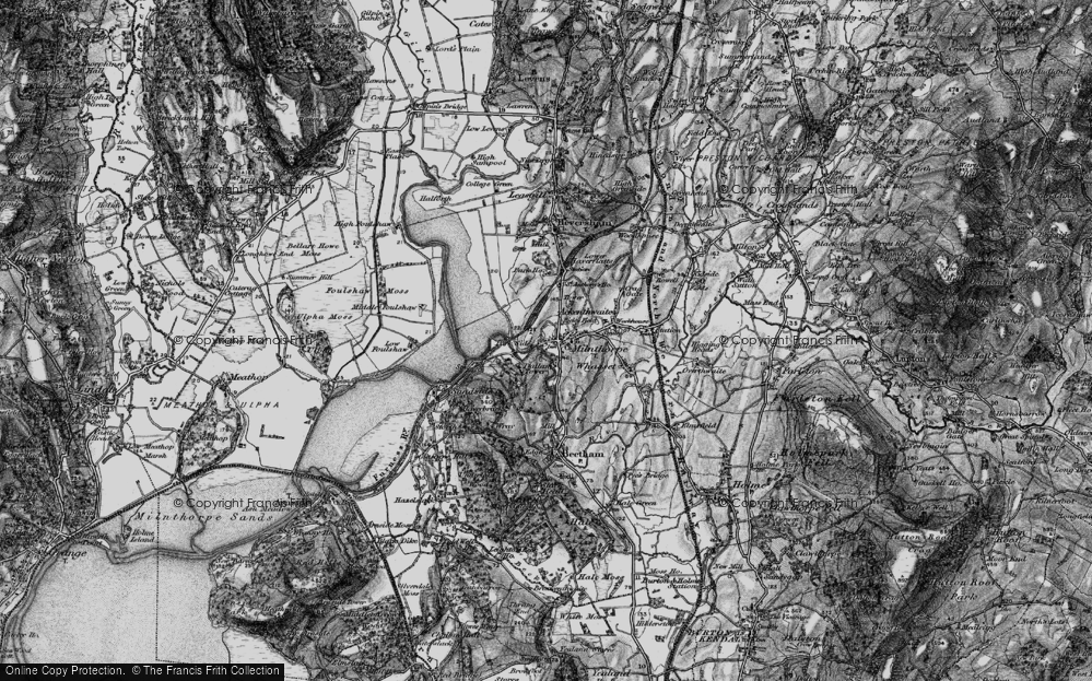 Old Map of Milnthorpe, 1898 in 1898