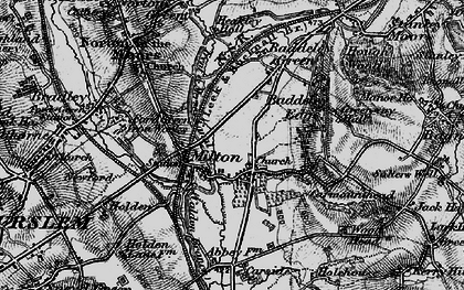 Old map of Baddeley Green in 1897