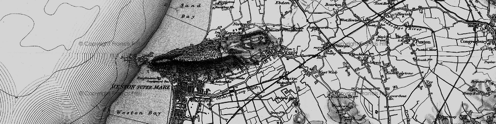 Old map of Airfield (disused) in 1898