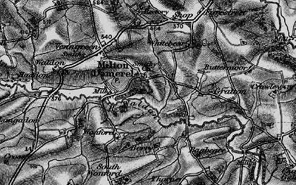 Old map of Milton Damerel in 1895