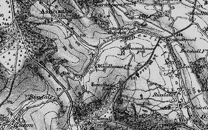 Old map of Ashcombe Tower in 1898