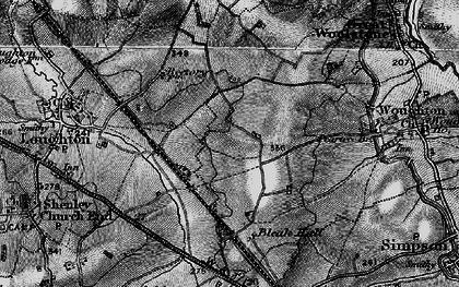 Old map of Milton Keynes in 1896