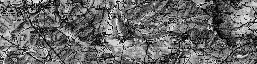 Old map of Willen Lake in 1896