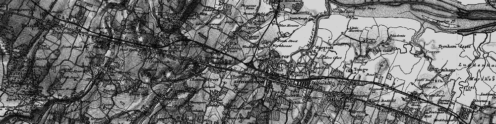 Old map of Milton Regis in 1895