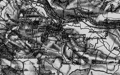 Old map of Milverton in 1898