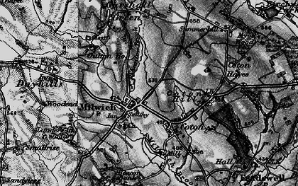 Old map of Wheatlow Brook in 1897