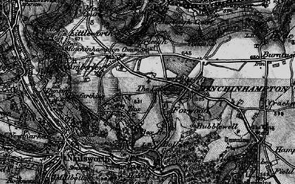 Old map of Minchinhampton in 1897