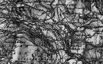 Old map of Minera in 1897