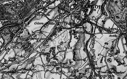 Old map of Minffordd in 1899