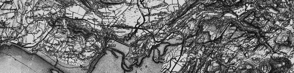 Old map of Ynys Gifftan in 1899