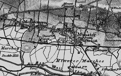 Old map of Abbot's Wall in 1895