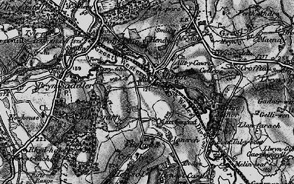 Old map of Miskin in 1897