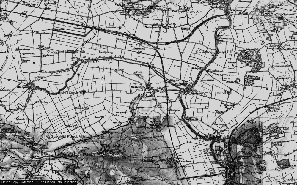 Old Map of Misterton, 1895 in 1895