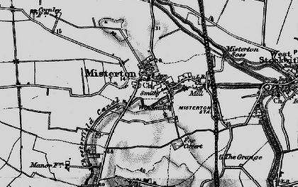 Old map of Misterton in 1895