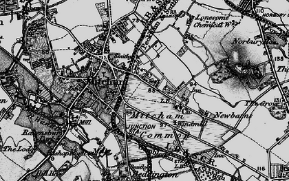 Old map of Mitcham in 1896