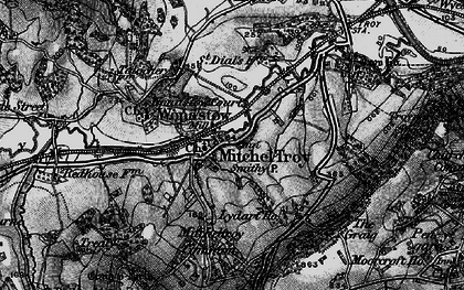 Old map of Mitchel Troy in 1896