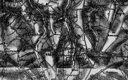 Old map of Mithian Downs in 1895