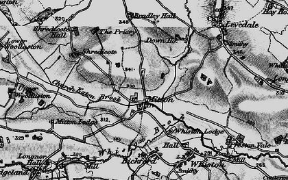 Old map of Mitton in 1897