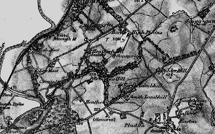 Old map of Liddel Strength in 1897
