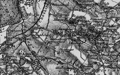 Old map of Mobberley in 1896