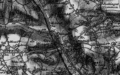 Old map of Mobwell in 1895