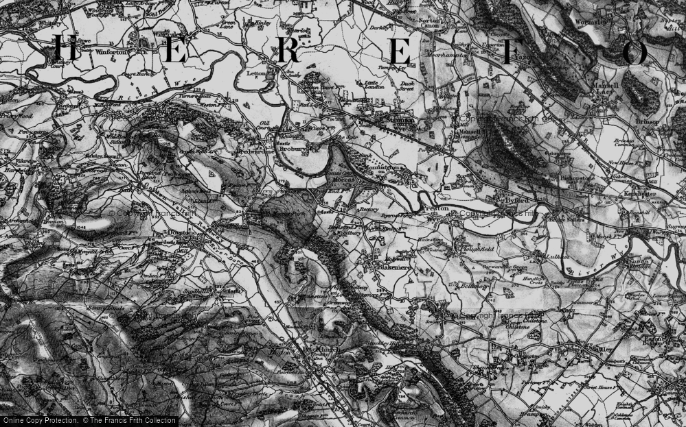 Old Map of Historic Map covering Woodbury Hill Wood in 1898
