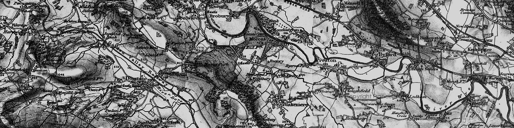 Old map of Woodbury Hill Wood in 1898