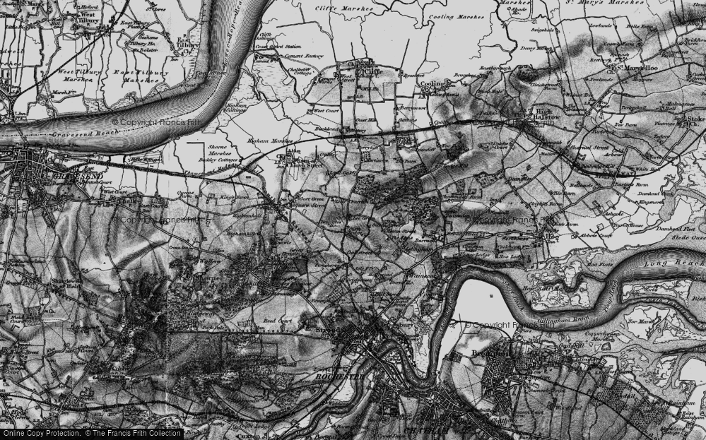 Old Map of Historic Map covering Lee Green in 1895