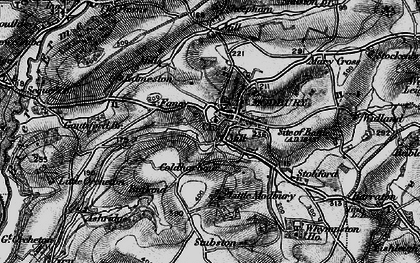 Old map of Modbury in 1897