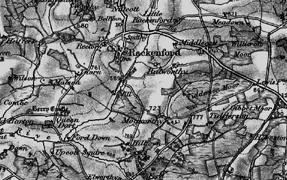 Old map of Witheridge Moor in 1898