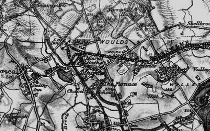 Old map of Ashby-de-la-Zouch Canal in 1895