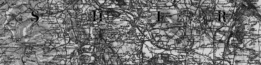 Old map of Mold in 1897