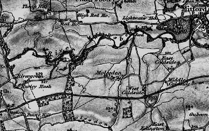 Old map of Lightwater Ho in 1897