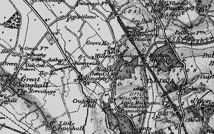 Old map of Willows, The in 1896