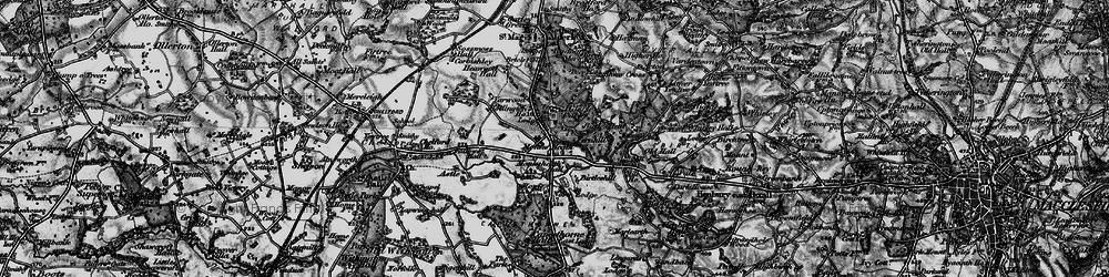 Old map of Alderley Park in 1896