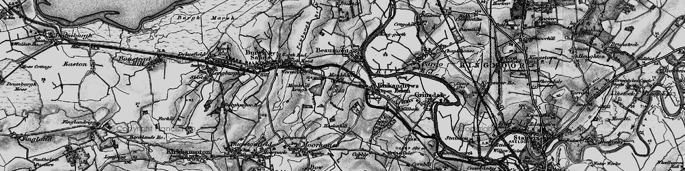 Old map of Wormanby in 1897