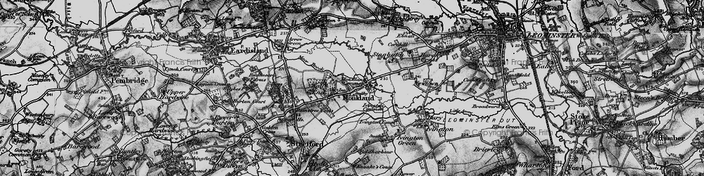 Old map of Monkland in 1899