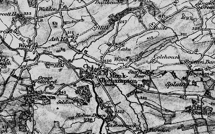 Old map of Wood Barton in 1898