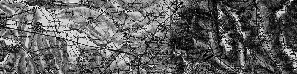 Old map of Monks Risborough in 1895